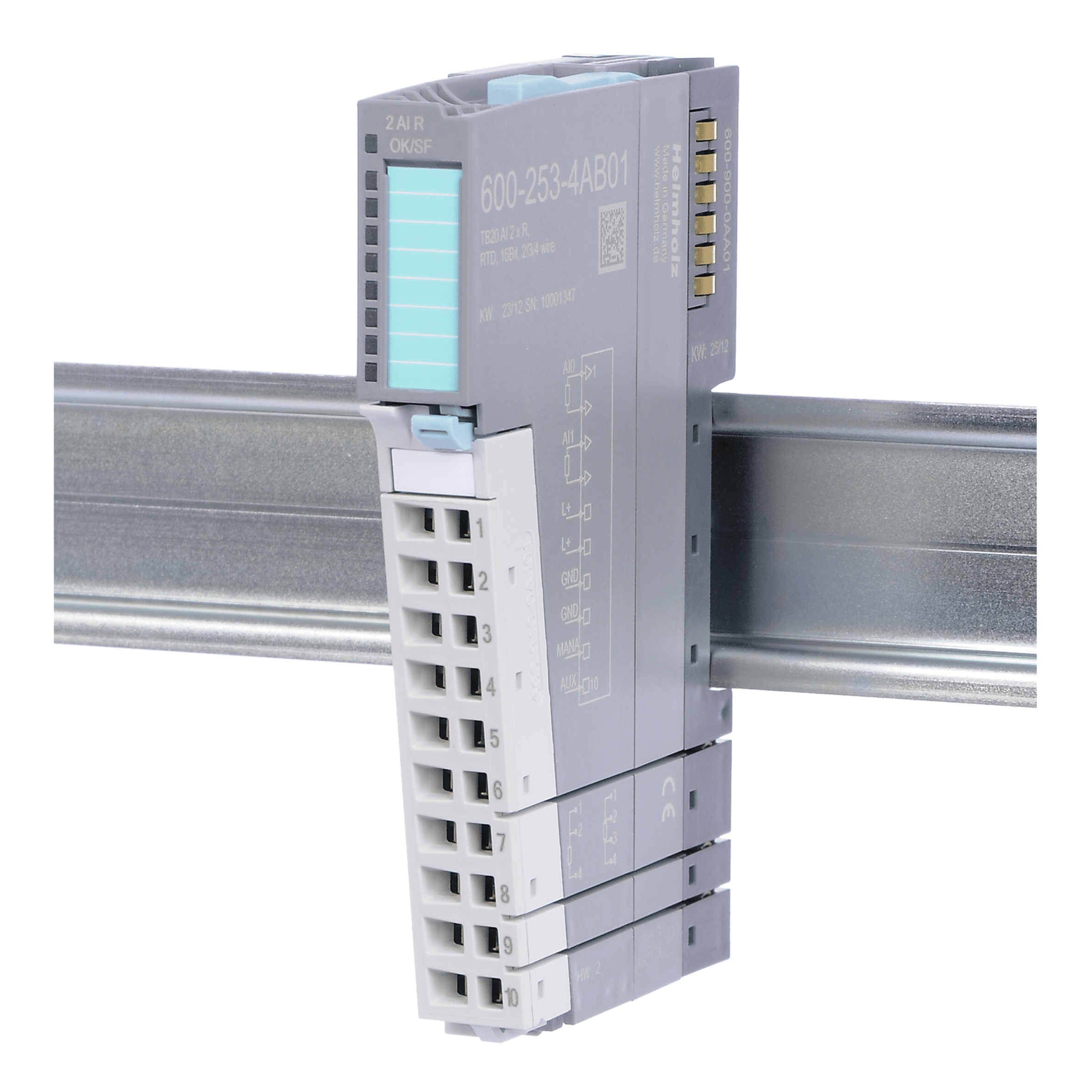 TB20 AI, 16 Bit, R, RTD, 2/3/4 wire : Helmholz Benelux