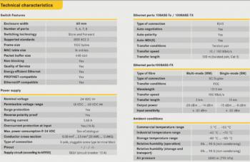 eCon 3000 Fast Ethernet Basic PoE : PoE+ 24 V DC:DC_Specifications